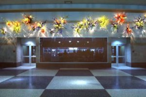 """Dale Chihuly's glass art sculpture """"The Mendota Wall"""""""